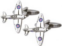 Dalaco 90-1149 Spitfire Rhodium Plated Cufflinks
